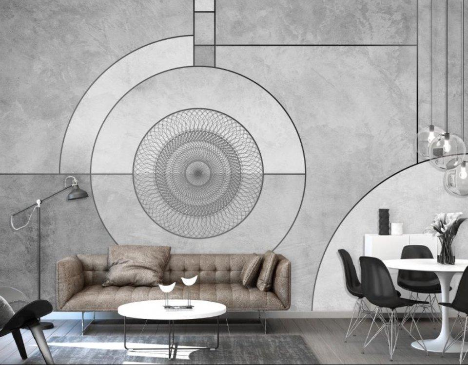 фотообои светлые на стену геометрия фотообои креативные принты на стену купить