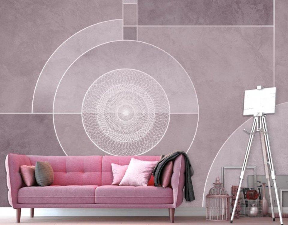 фотообои нежный цвет на стену. купить фотообои геометрия розовые