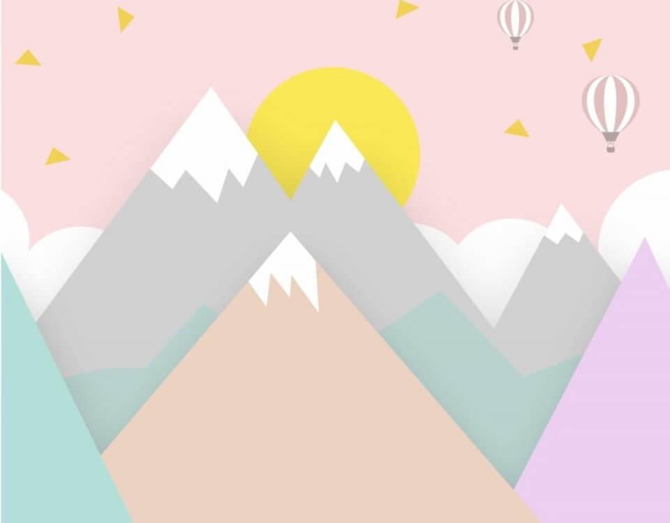 обои горы в детскую комнату