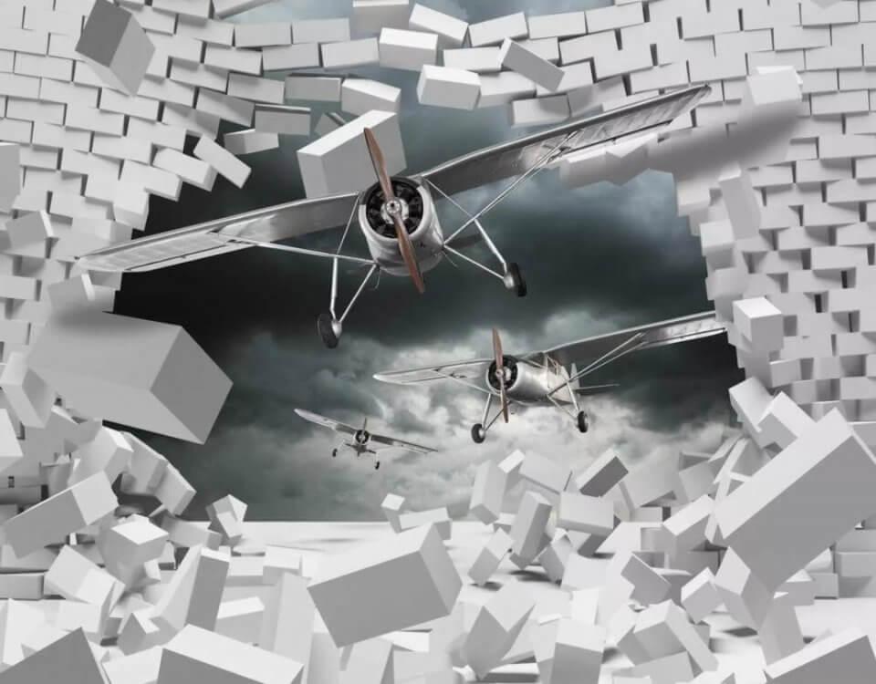 фотообои самолеты абстракция белые фотообои с самолетами