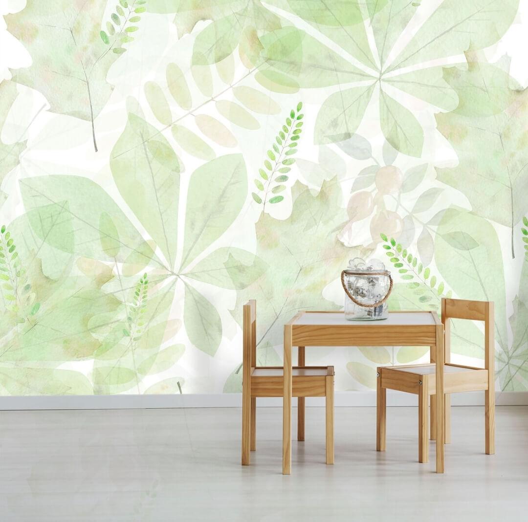 фотообои листья. зеленые листья обои
