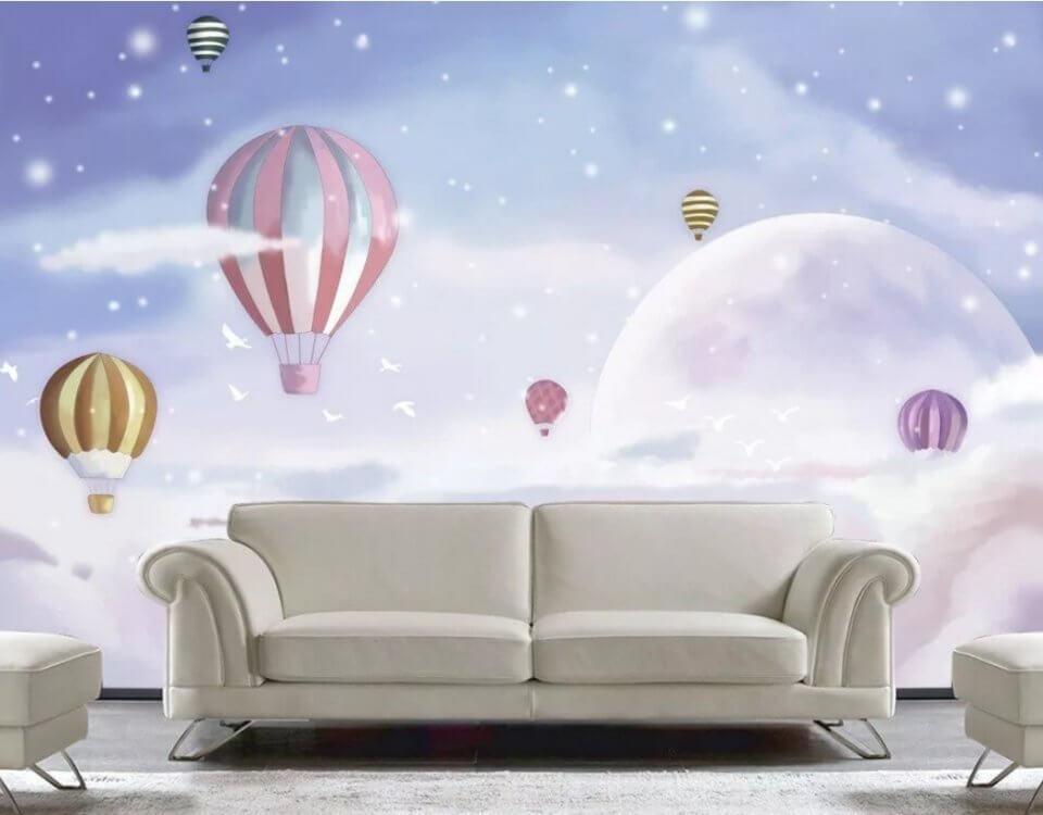 обои небо воздушные шары безопасные фотообои сертификаты качества