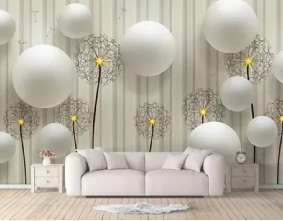 фотообои купить с одуванчиками белые шары и одуванчики обои на стену