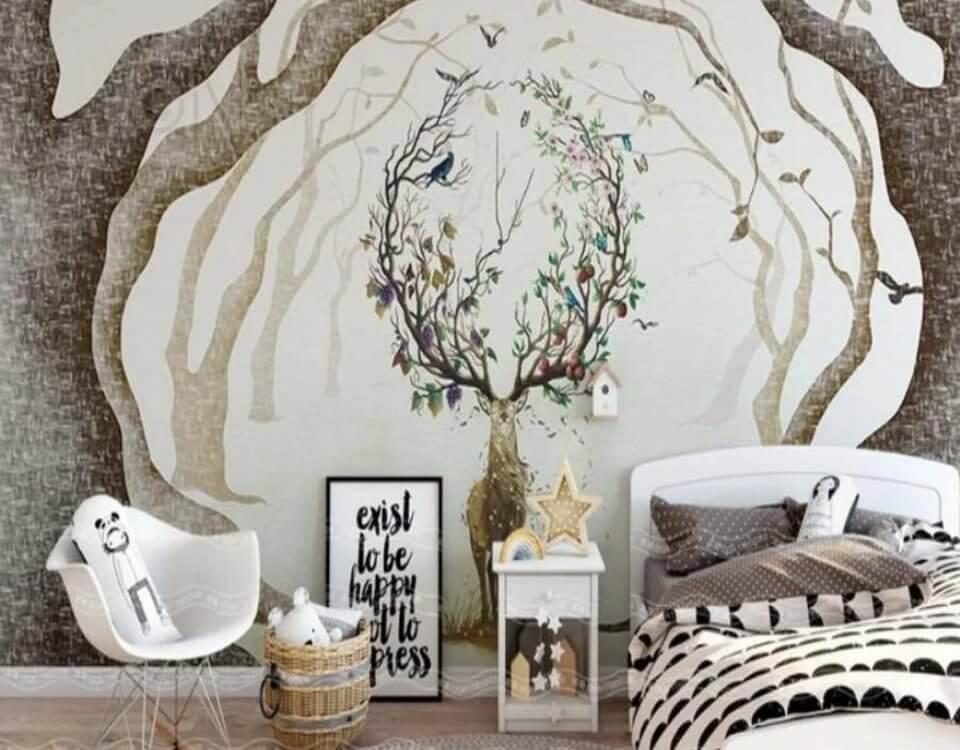 фреска +с оленями