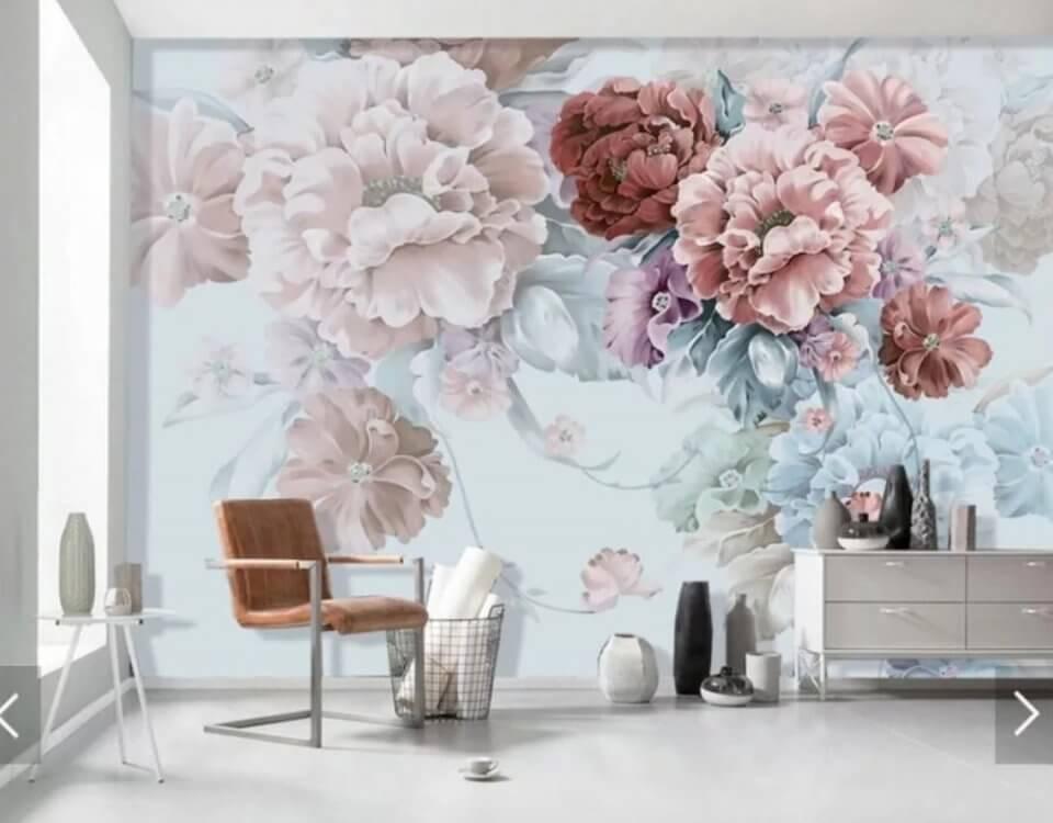 фреска бутоны цветов на стену красивые цветы фотообои