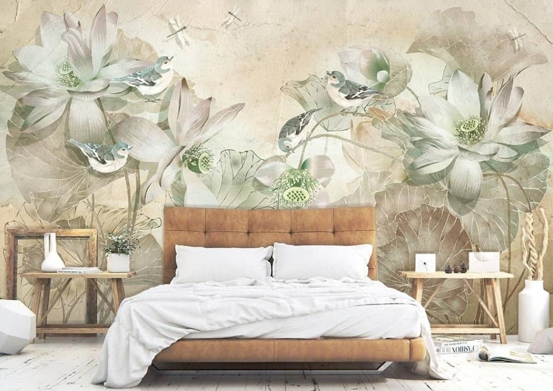 murals on the wall with flowers
