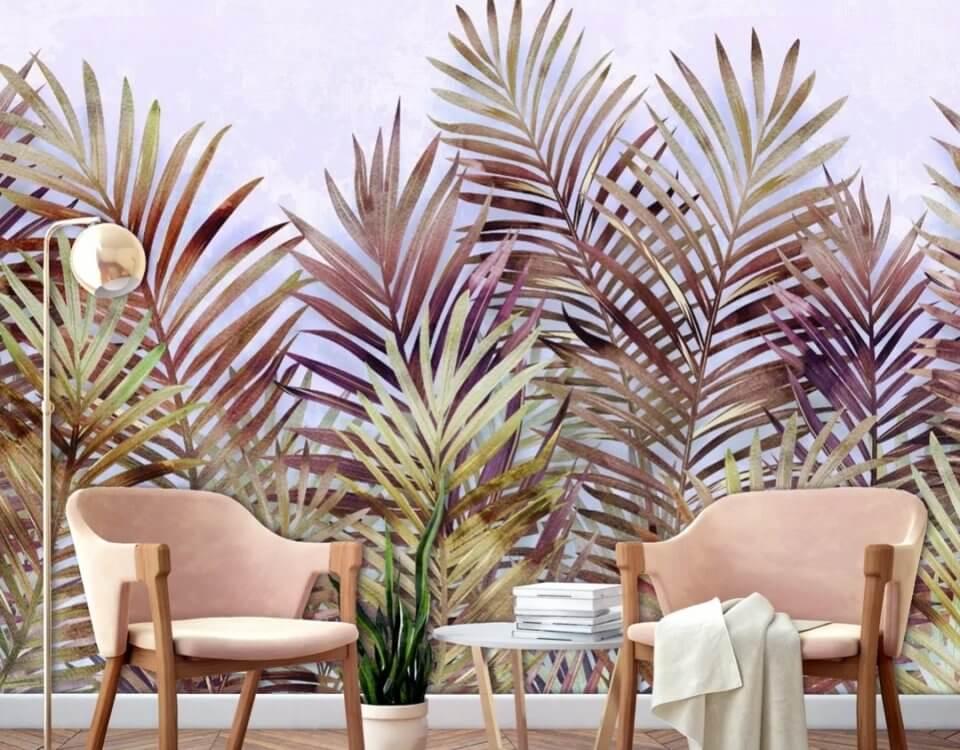 ветви снизу вверх обои на стену бесшовные тропические ветви острые