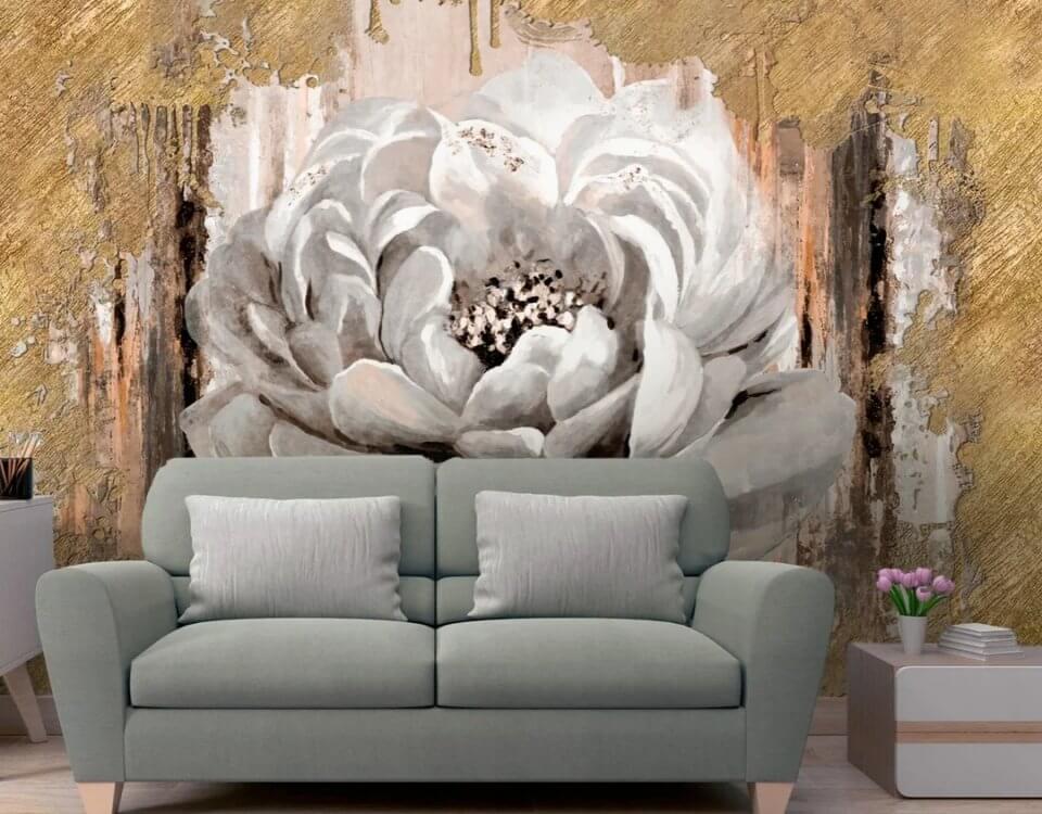 фотообои белые цветы. фотообои цветы на стену. цветы фотообои гостиная