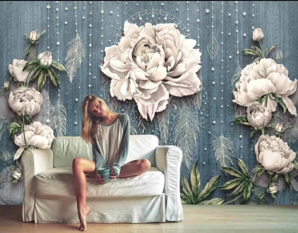 фотообои цветок купить. фотообои белые цветы