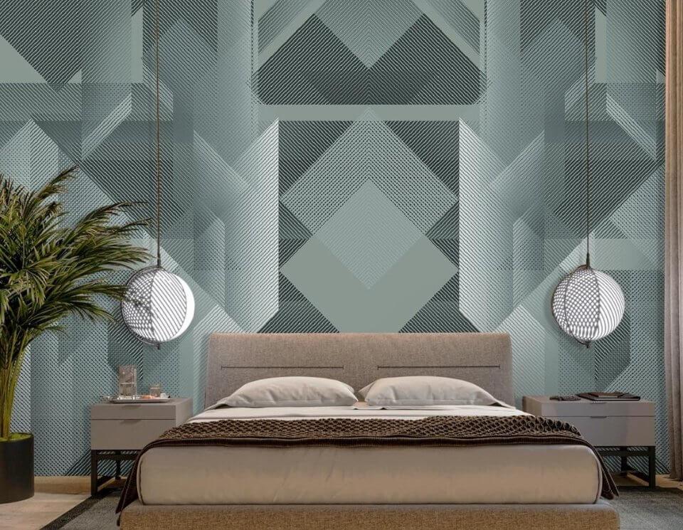 купить обои геометрия фото. стильные фотообои в спальне купить. дизайнерские принты для стен купить по своим размерам