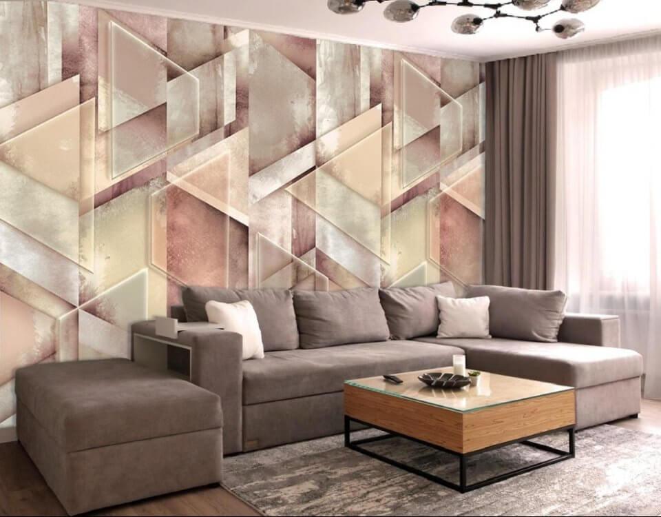 геометрия стены обои с узорами красивые фотообои на стену