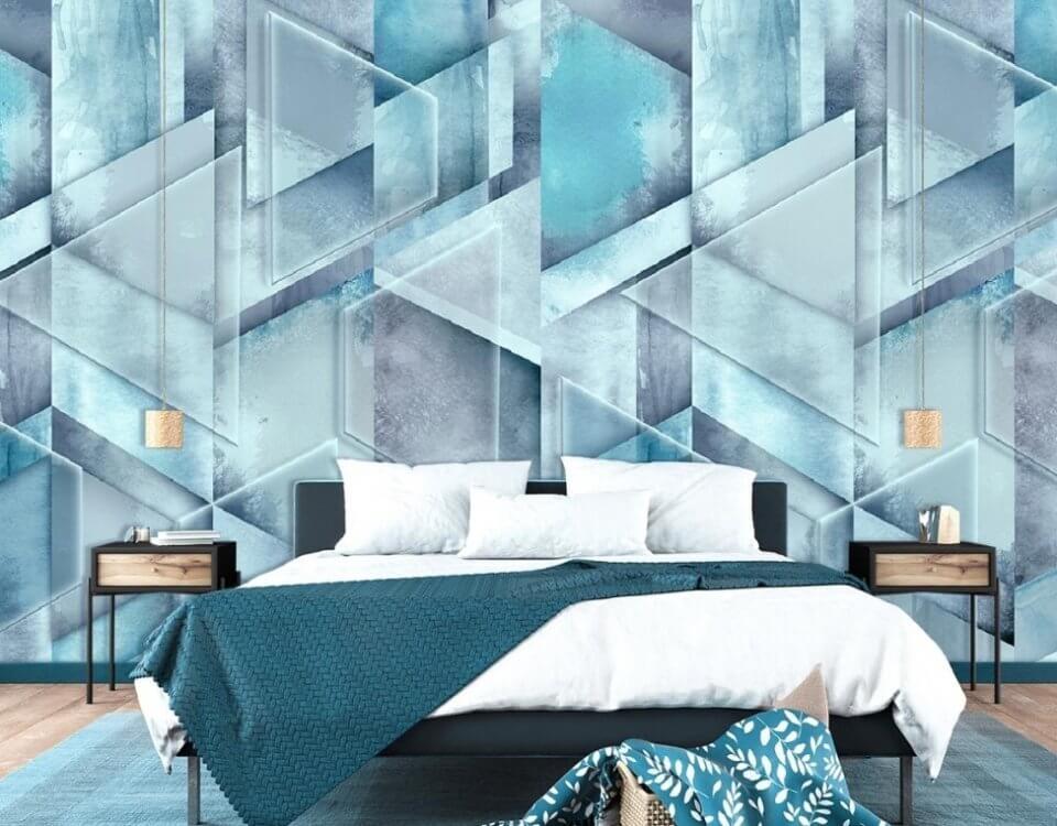 геометрия необычные обои на стену