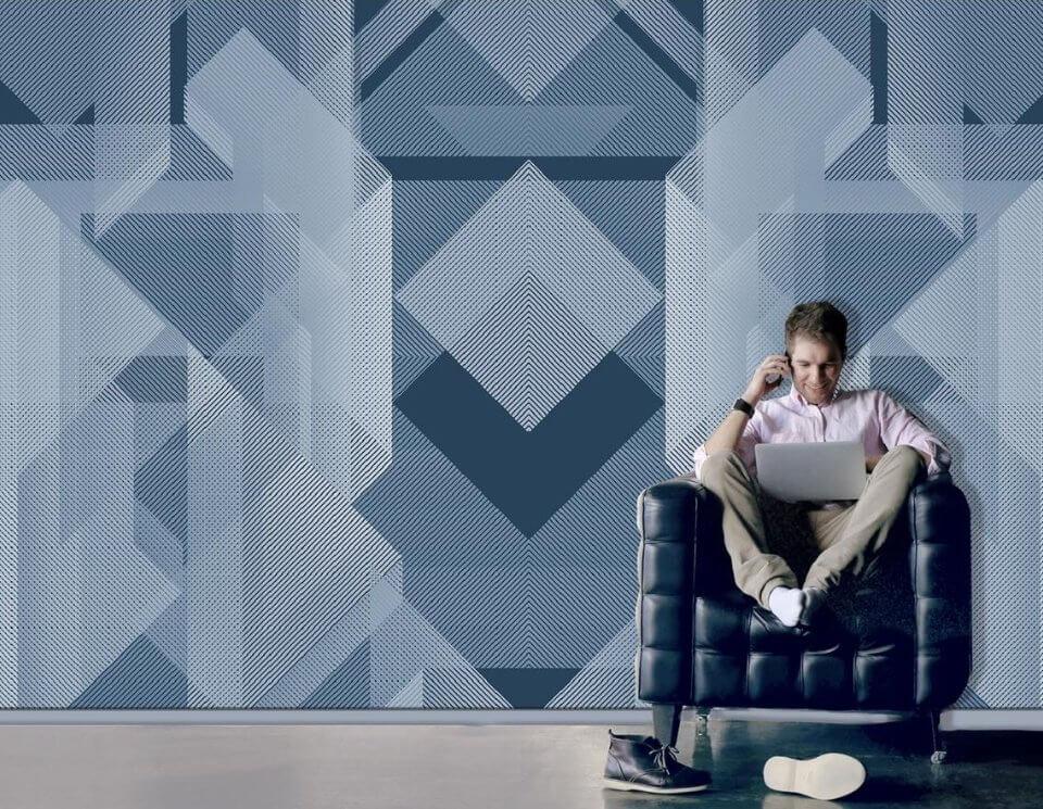 обои для мужской комнаты. фотообои геометрия. стильная геометрия фотообои. фотообои мужские