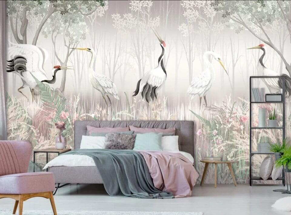 фотообои спальню купить. по своим размерам. фотообои птицы для спальни. где купить фотообои в перми