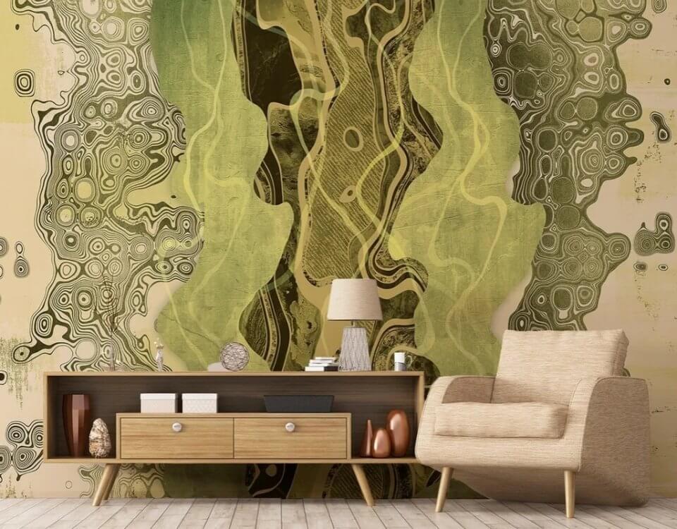 фотообои абстракция. фотообои зеленые. флизелиновые обои для стен каталог фото. дивино декор фотообои