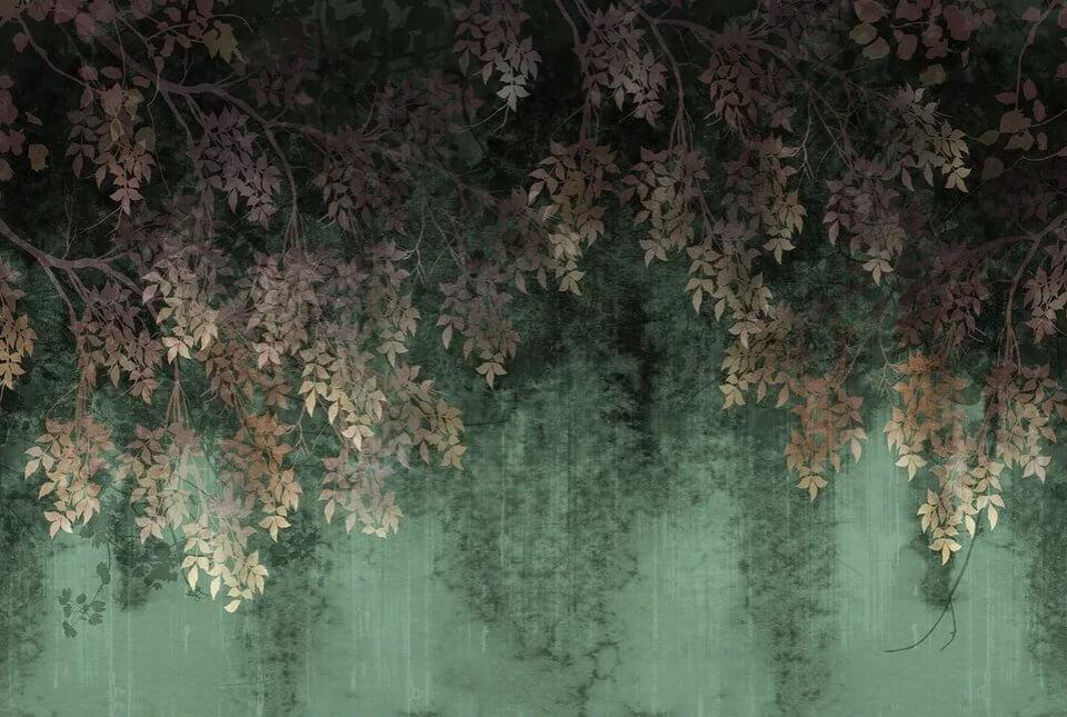 фотообои ветви. дизайнерские фрески. темные фотообои по своим размерам