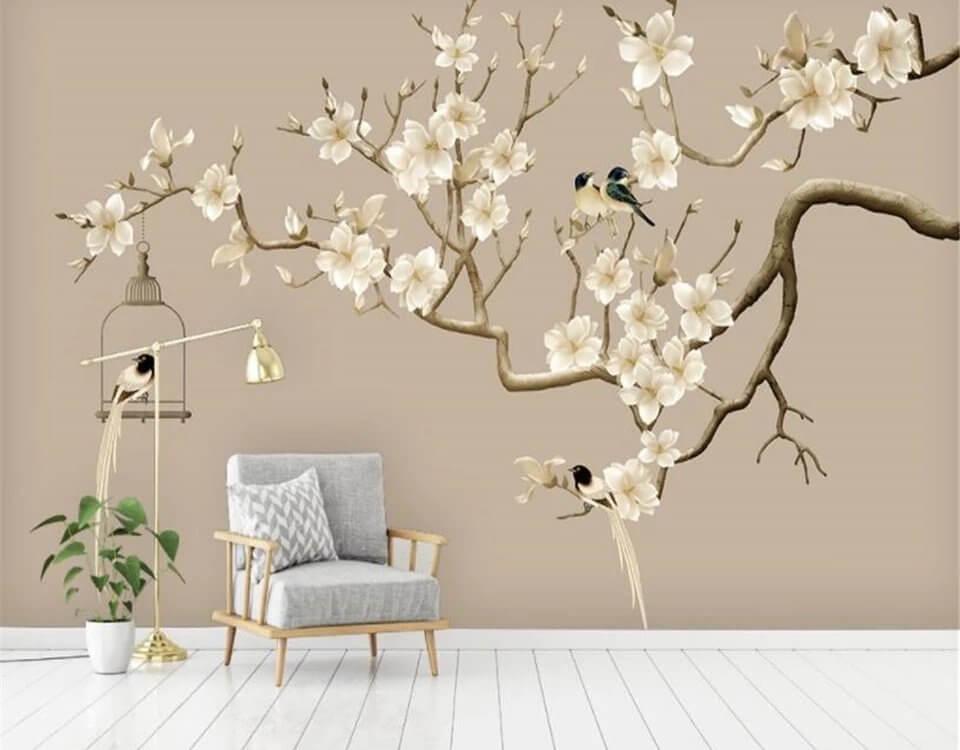 фотообои птицы на дереве