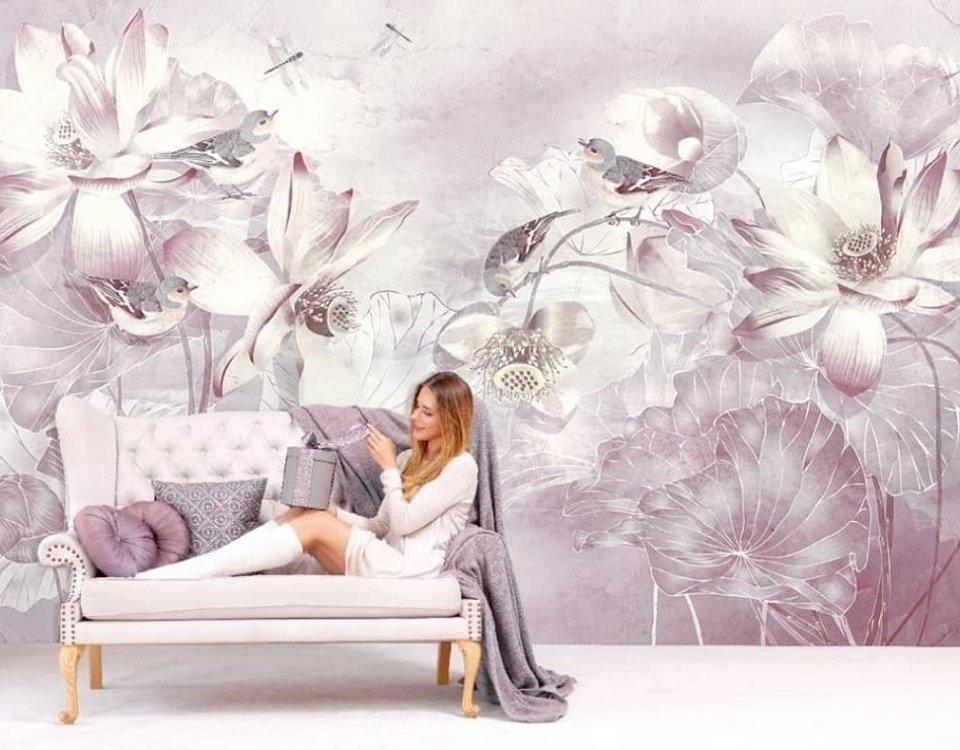 фотообои фрески цветы