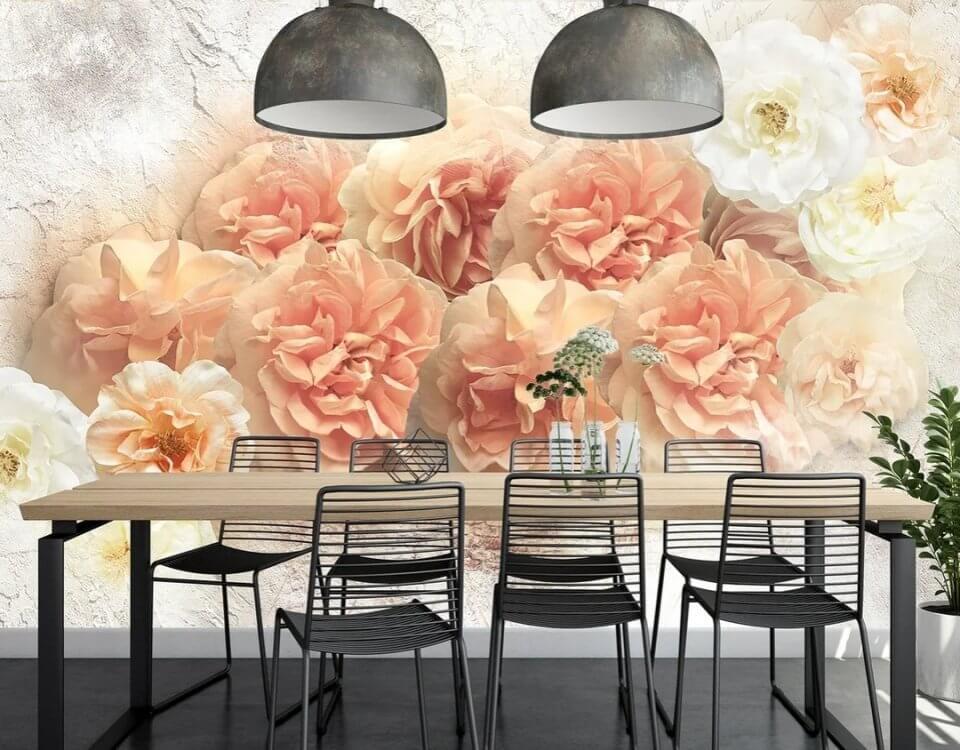 фотообои яркие цветы на стену