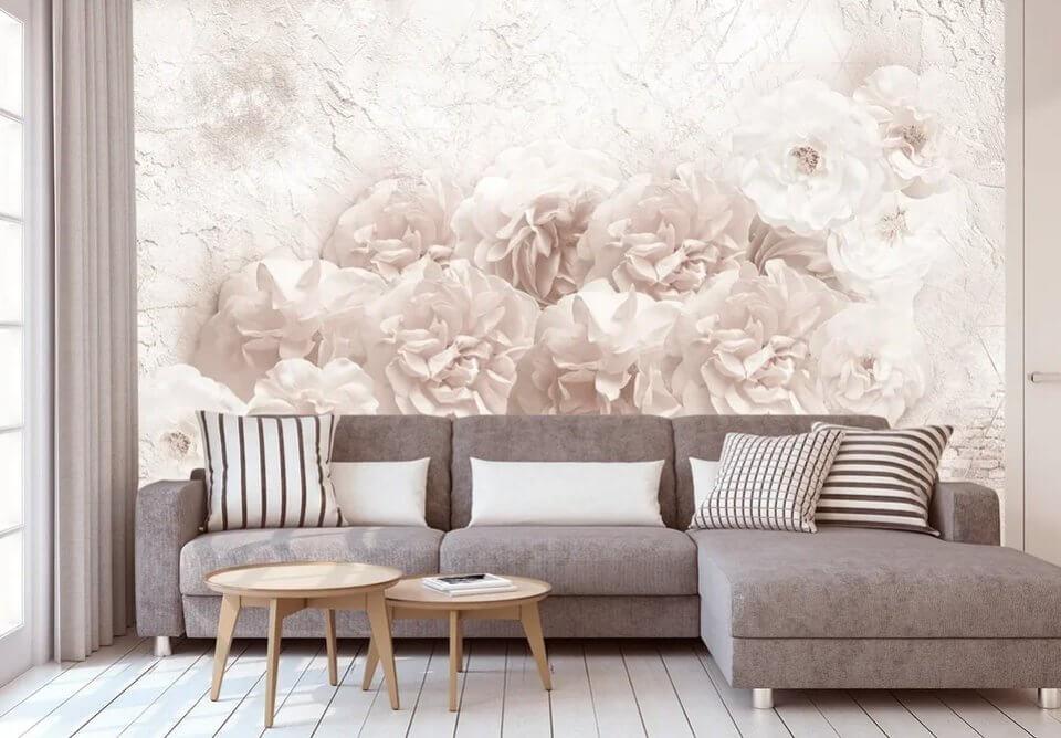 фреска пионы купить по своим размерам омск. фреска пионы на флизелине купить