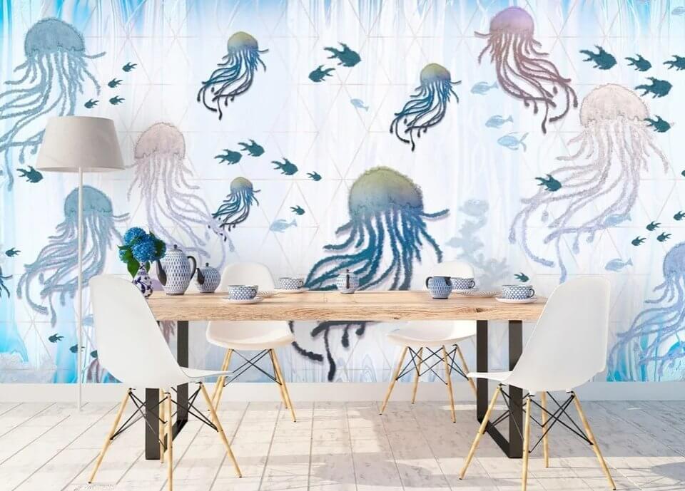 красивые медузы фотообои подводный мир медузы. обои с медузами