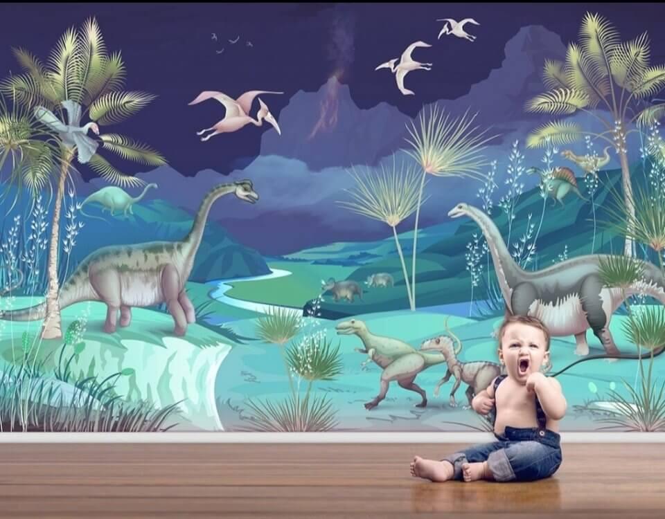 фотообои динозавры +в детскую купить +в спб