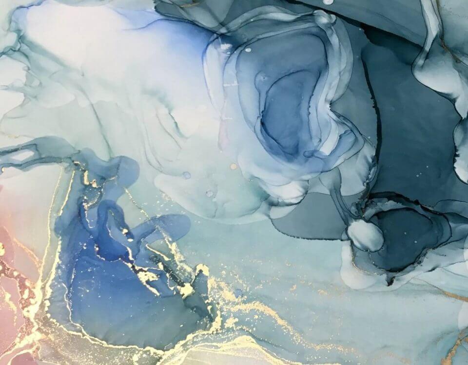 фреска флюид арт