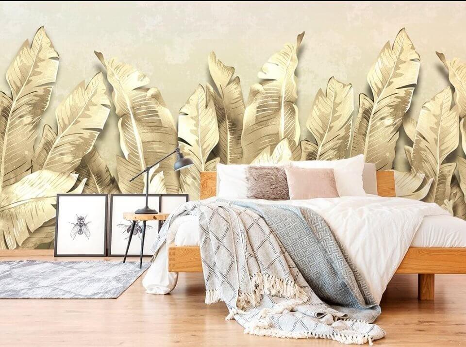 wallpaper on the wall beautiful prints