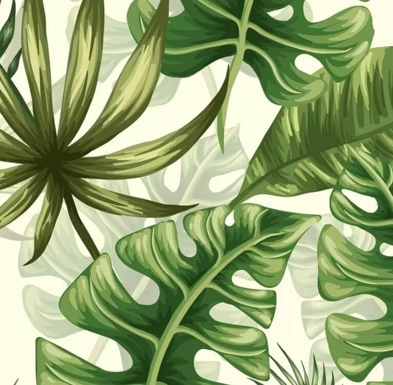 фотообои мир пальмовые листья