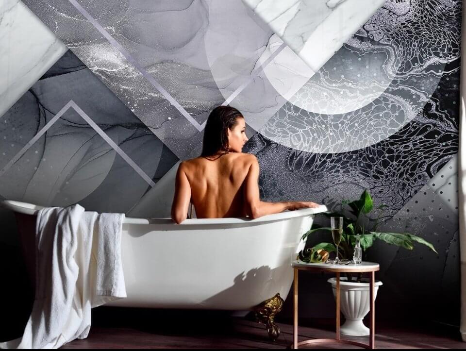 влагостойкие фотообои +для ванной