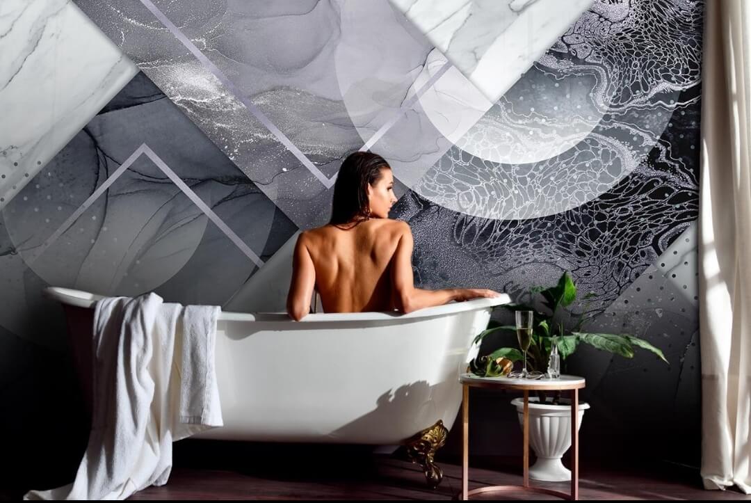 влагостойкие фотообои для ванной