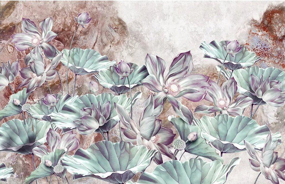 фотообои цветы лотоса на стену