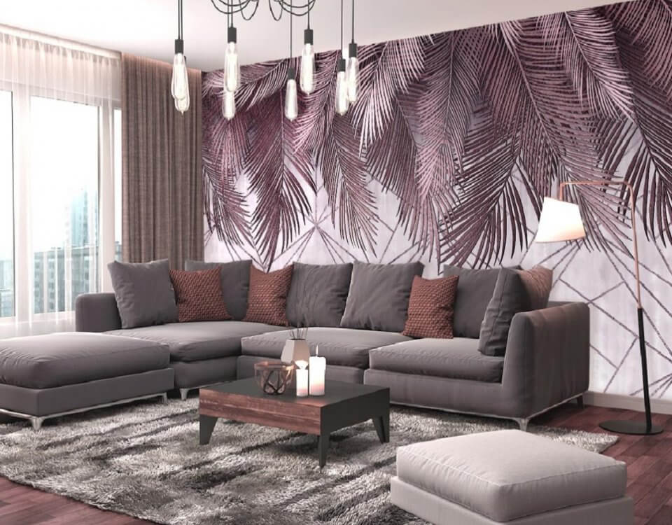 фотообои пальмовые ветки
