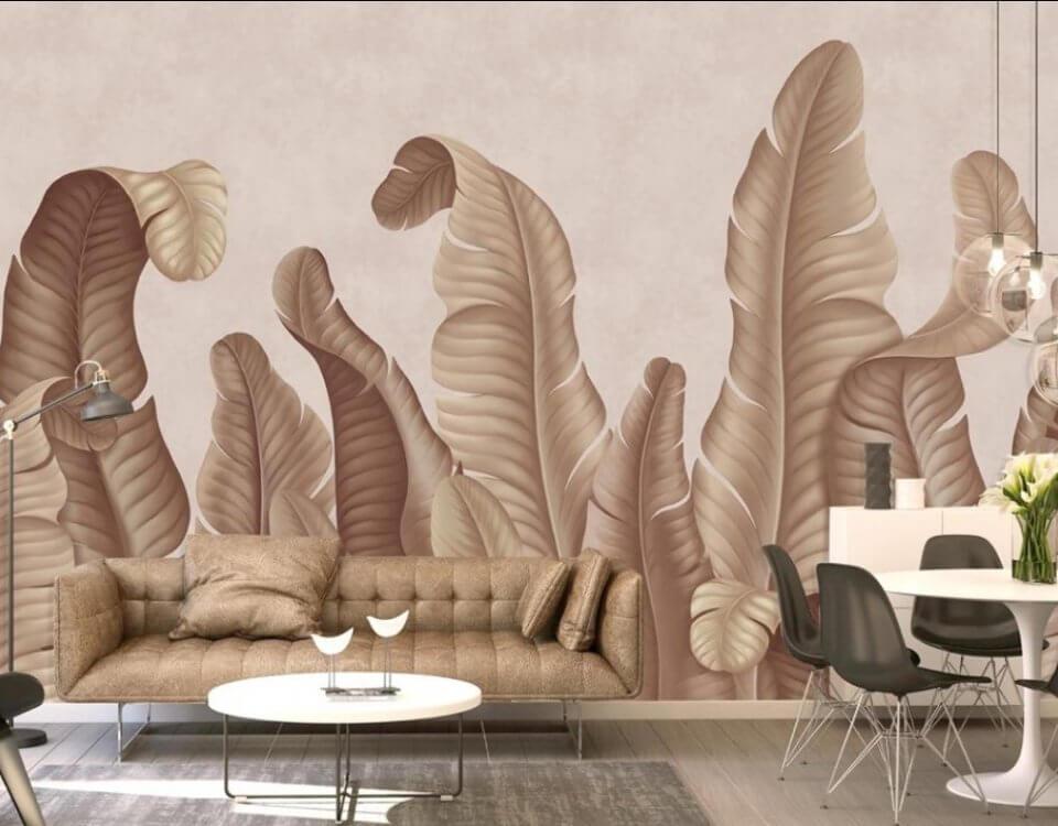 фотообои тропические листья высокие на стену