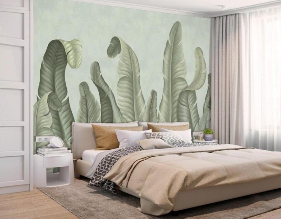 тропические фотообои на стену для спальни