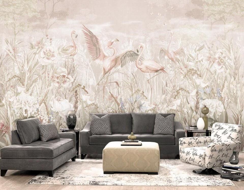 фотообои с птицами на стену светлые