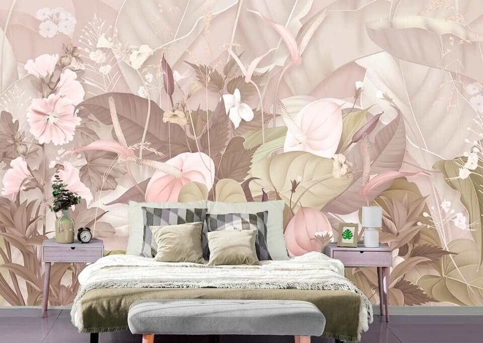 фотообои с цветами на стену