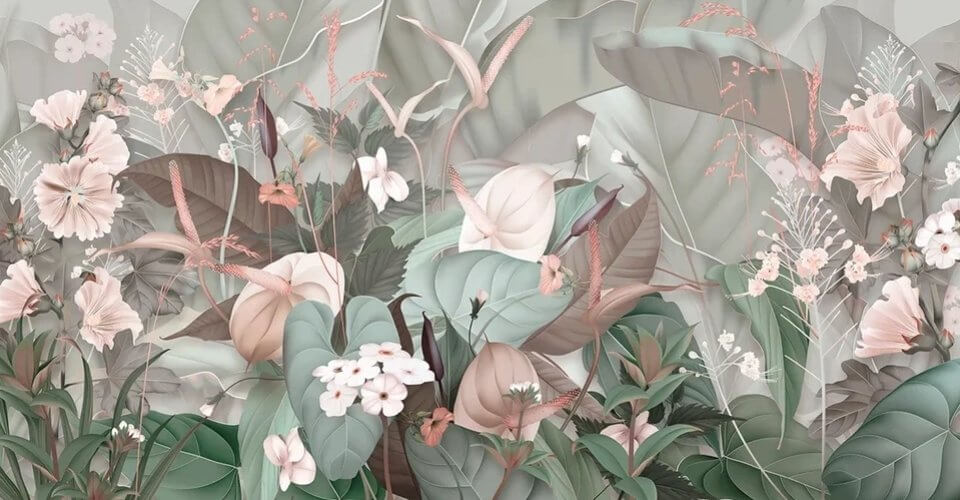 фотообои красивые цветы на стену