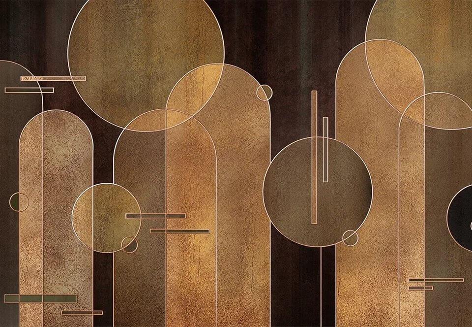 фотообои геометрия темный фон