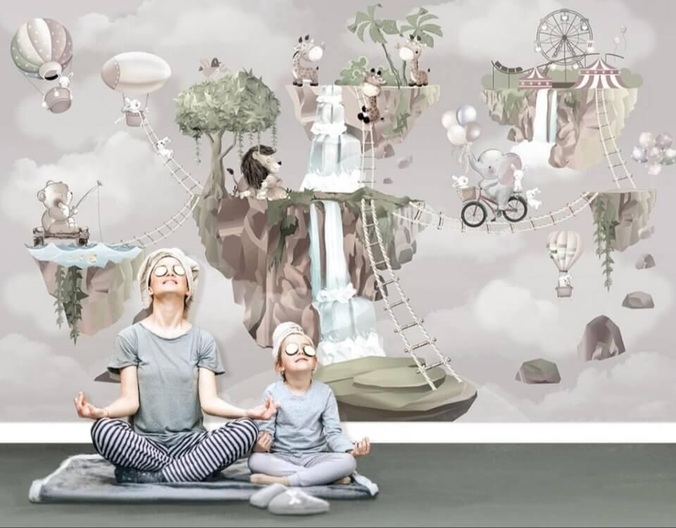 фотообои детские на стену светлые