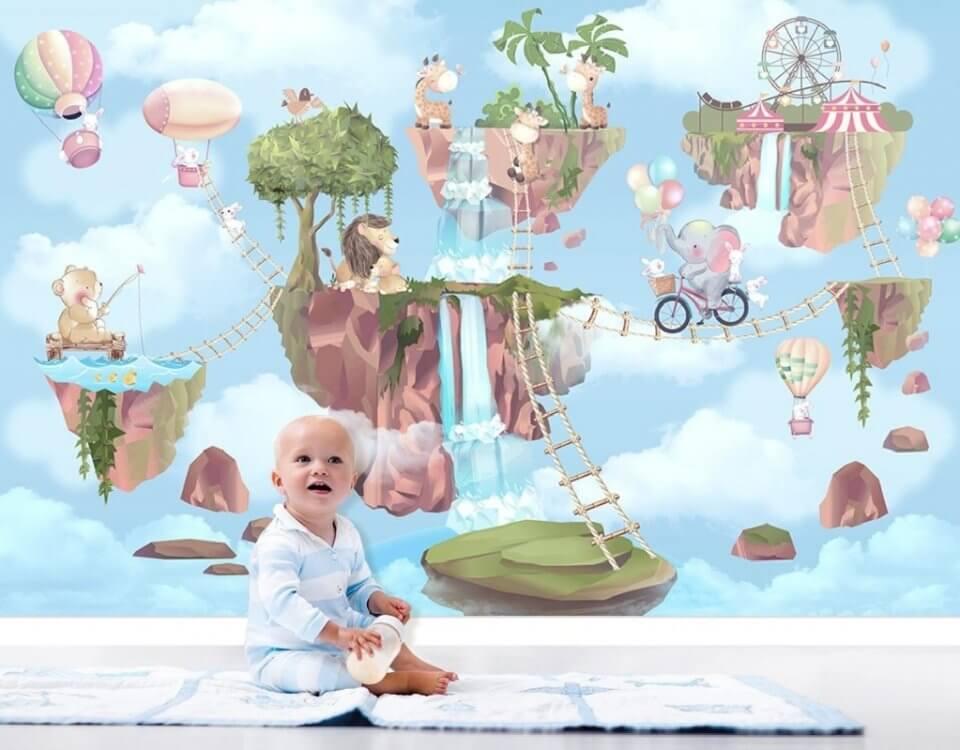 фотообои детские сказка голубой фон