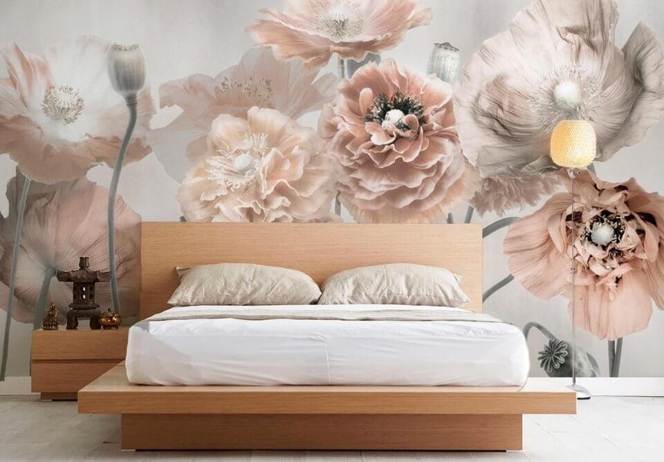 фотоообии цветок маки на стену