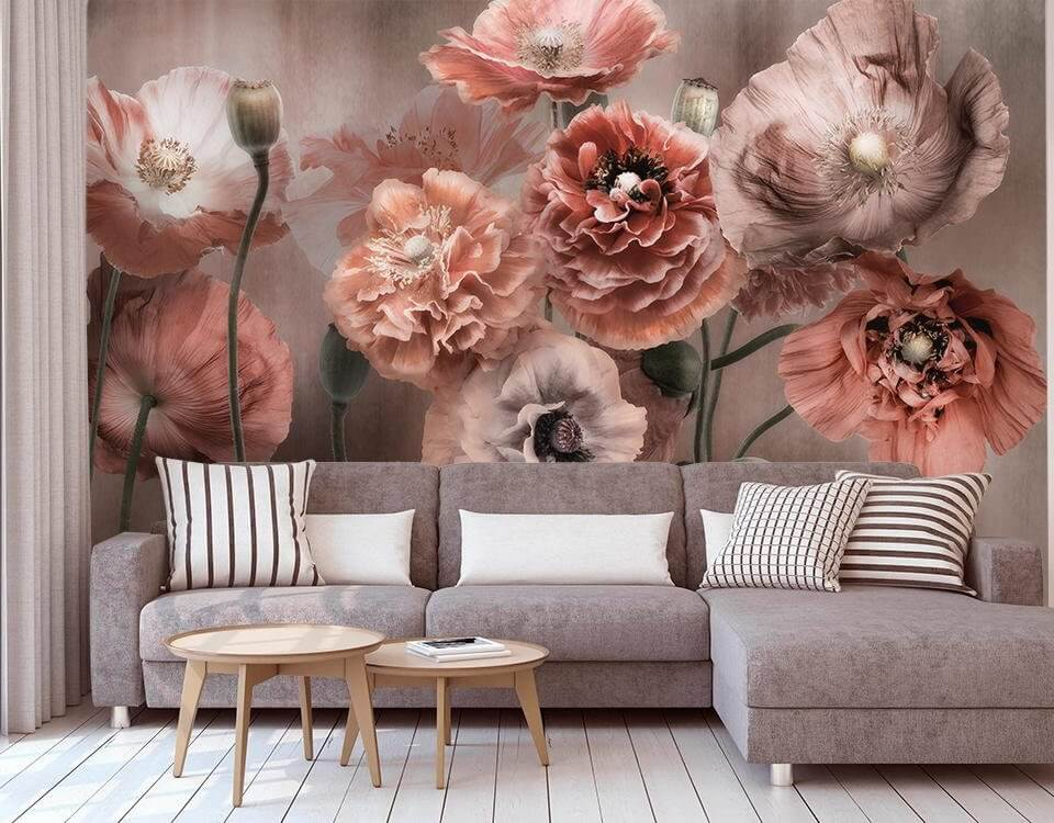 фотообои цветы в гостиную