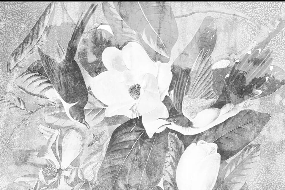 фотообои крупные цветы лофт стиль