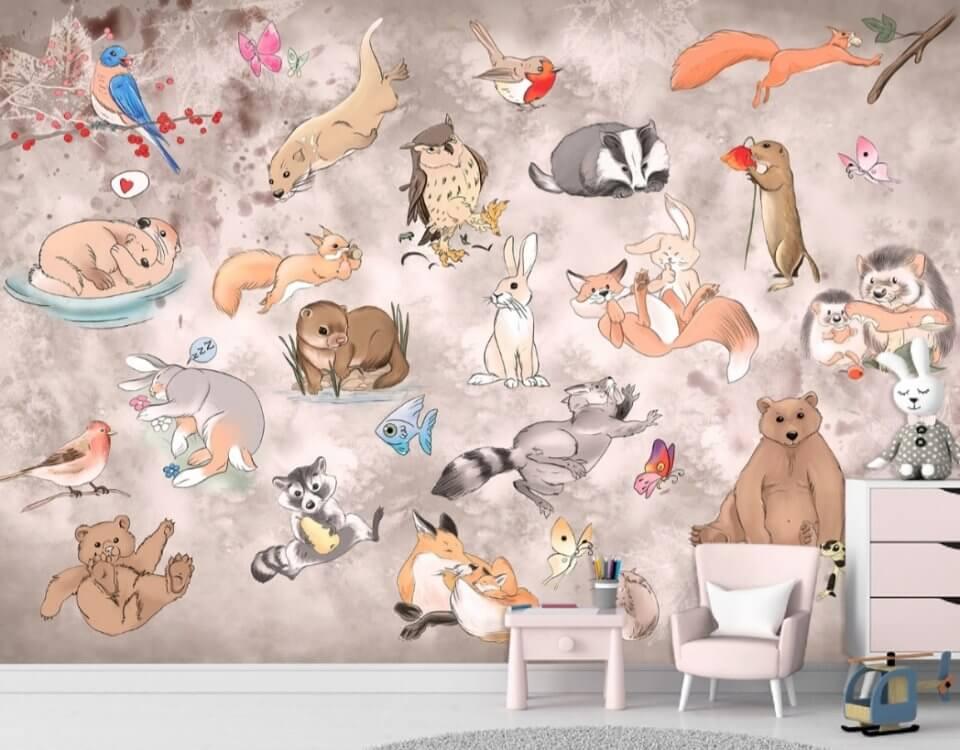 детские фотообои для малышей на стену в комнату