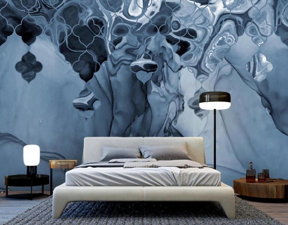 фотообои синий флюид на стену