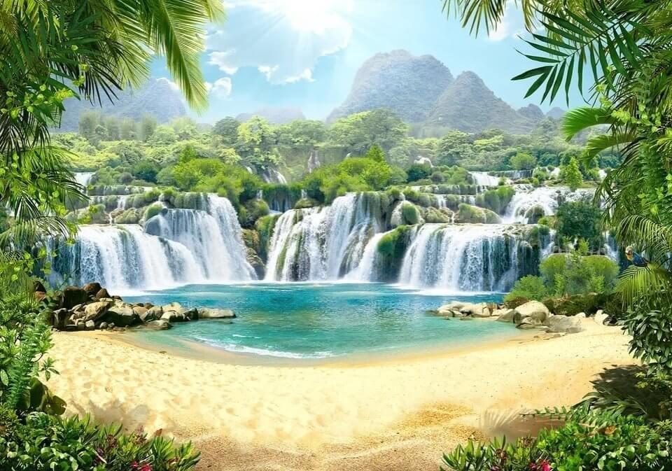 фотообои пейзаж водопад
