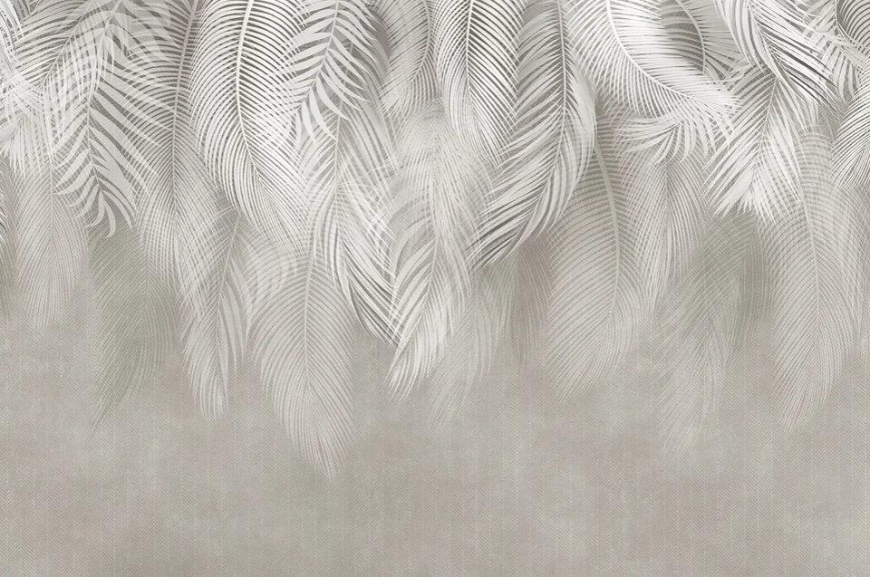 фотообои тонкие перья на стену