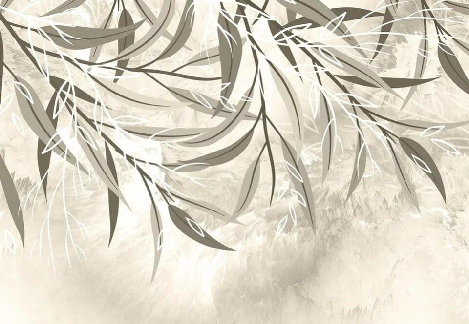 фотообои ветви с листьями