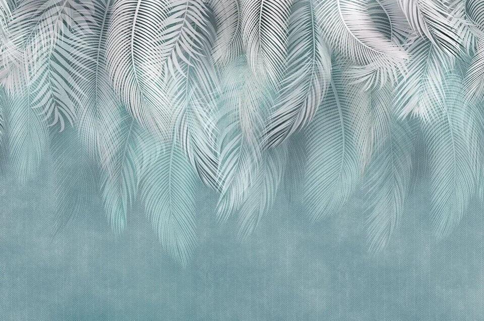 фотообои перья на стену